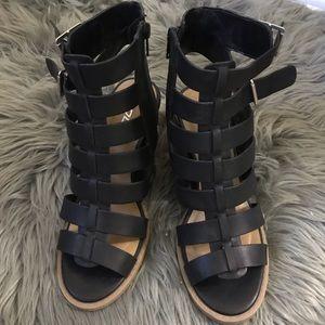 Soda black gladiator sandals